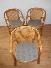 Bambusrohr Sessel mit Sitzpolster - Super bequem