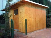Baue,-Gartenhaus,Blockhaus,