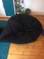 Bequemer Sitzsack schwarz