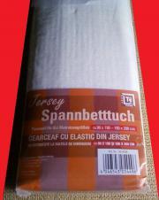 Betttuch Spanbettlaken weiß jersey 100x200cm