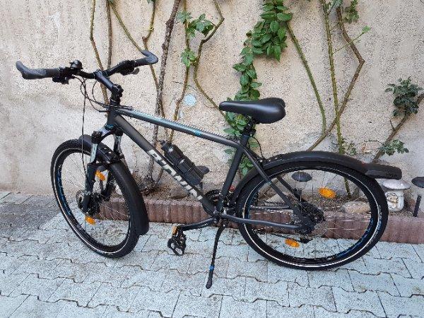 Bike B_rwin MTR Alu - Guntersblum - Bike alu B_RWIN MTR 26zoll und 24gang schneller neu schutznadel reifen auch seiten-Ständer schwarz alu, Velo Ergogel D3 Bar Lenker Griffe schraubgriffe. Ich selbst alles reparatur fahrrad super und gut leicht schneller fahren. Fahrrad ein j - Guntersblum
