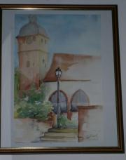 Billigheim Pfalz Aquarell
