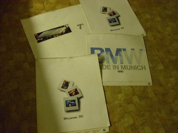 BMW Kalender Sonderdruck 850i