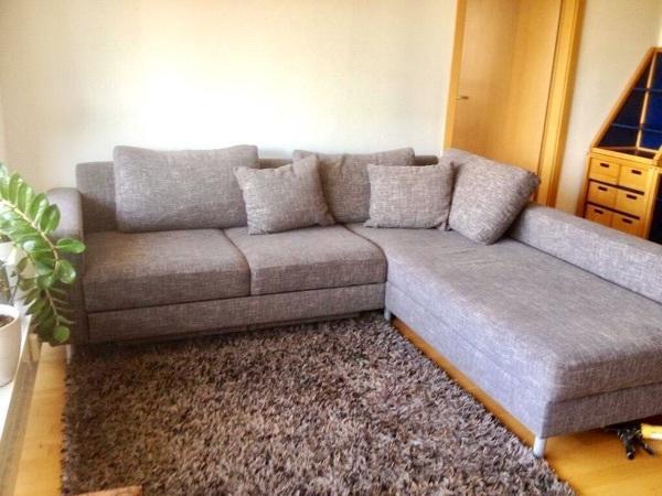 Eckschlafcouch  Couch Eck Schlafcouch grau (2,45m breit, 2,10m tief) in München ...