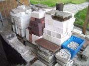 Dachziegel, Steine, Schotter -