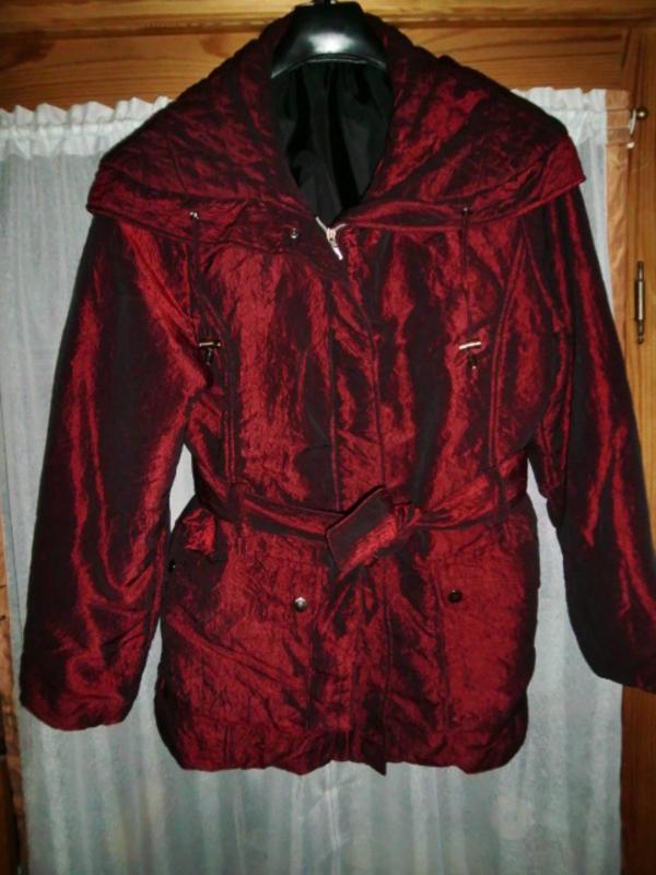 buy online d08e6 ef023 Damen-Jacke / Winterjacke, bordeaux (schimmert metallic bzw ...