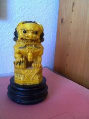 Dekorative ASIA-Löwenfigur gelb-schwarz