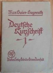Deutsche Kurzschrift 1 - Max Baier