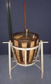 Drehgerät für Metallkorb Glasballon Weinballon