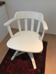 Drehstuhl holz ikea  Drehstuhl Weiss - Haushalt & Möbel - gebraucht und neu kaufen ...