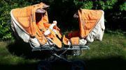 Drillingswagen Geschwisterwagen Zwillingswagen