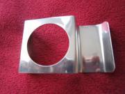 Eierbecher modern silberfarben Metall