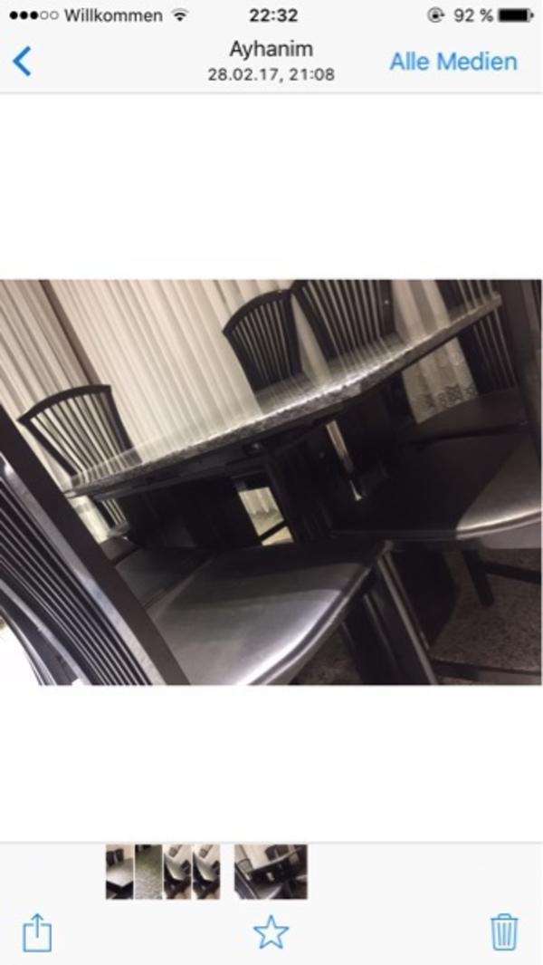 esstisch stuhlen leder gebraucht kaufen nur 2 st bis 65 g nstiger. Black Bedroom Furniture Sets. Home Design Ideas