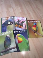 Fachzeitschrift PAPAGEIEN und verschiedene Käfige