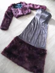 Festlicher Kleid m Bolero Kunstfell