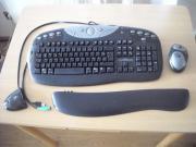 Funktastatur und Maus