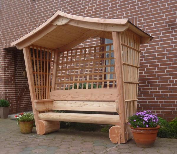 gartenlaube holzbank rosenbank sitzbank l rchenbank in. Black Bedroom Furniture Sets. Home Design Ideas