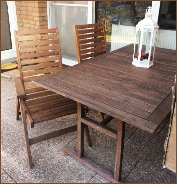 gartenmöbel: holz tisch 2 stühle in feucht - ikea-möbel kaufen und, Moderne