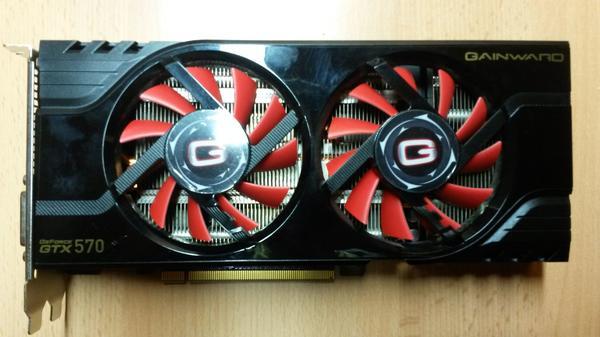 Geforce GTX 570 - Landau - Gainward Geforce GTX 570 1280 MB GDDR5 (320bits)NVidia-ChipsatzPCI-Express 2.0voll funktionsfähige Gaming-Grafikkarte für ältere 3-D-Spiele geeignet (z.B. Call of Duty: Black Ops 2, The Witcher 2, Mass Effect 3); Preis bei Abholung, ansonsten  - Landau