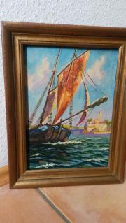 Gemälde Öl auf Holz mit