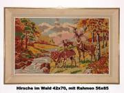 Gobelin Wandbild Hirsche im Wald