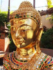 Goldener stehender Buddha Original uns