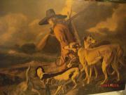 Großes altes Bild - Jäger mit