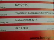 Gutschein Europapark Tagesfahrt