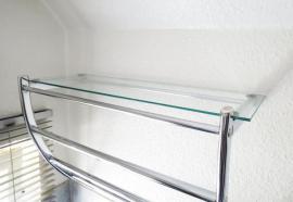Handtuchhalter mit Glasboden Verchromtes Badezimmer-Wandregal: Kleinanzeigen aus Nürnberg Hasenbuck - Rubrik Bad, Einrichtung und Geräte