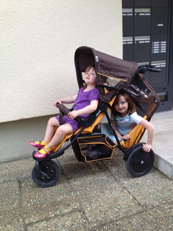 hauck geschwisterwagen freerider in germering. Black Bedroom Furniture Sets. Home Design Ideas