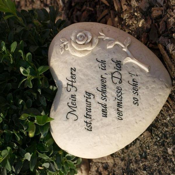 Herz Grabdekoration Gravur Mein Herz Ist Traurig Und