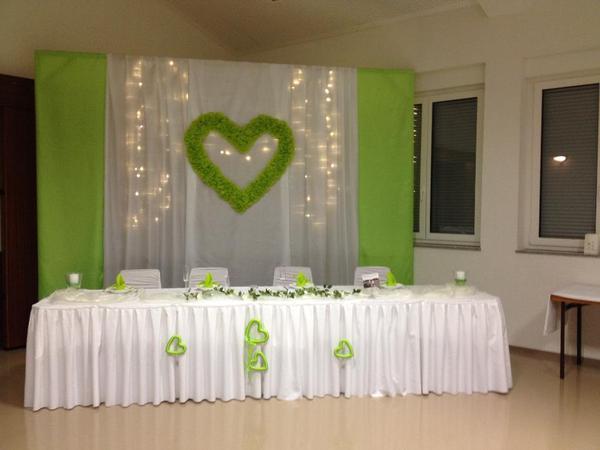 Hochzeitdeko tischdeko hintergrund brautpaar in waibstadt alles f r die hochzeit kaufen und - Tischdeko brautpaar ...