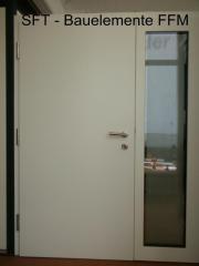 Haustür holz glas  Holz-Glas-Haustür mit Seitenteil Haustür mit Aluminiumrahmen und ...