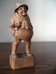 Holzschnitzfigur - Bauer Natur