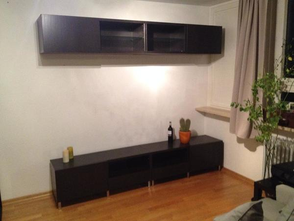 ikea besta tv bank und wandregal in m nchen ikea m bel. Black Bedroom Furniture Sets. Home Design Ideas