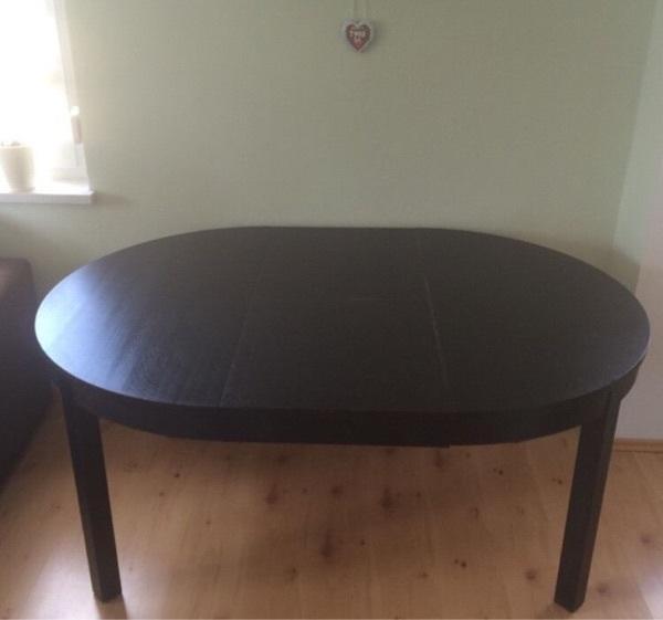 Esstisch rund ikea  Ikea Bjursta Tisch rund, ausziehbar + 4 Stühle in Höhenkirchen ...