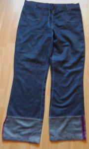 Jeans Hose blau Gr L