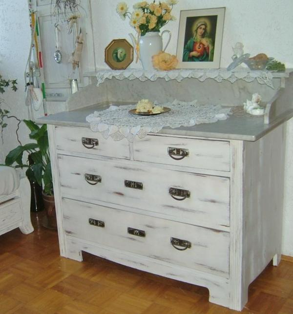 jugendstil shabby chic bauernkommode massiv kommode mit. Black Bedroom Furniture Sets. Home Design Ideas
