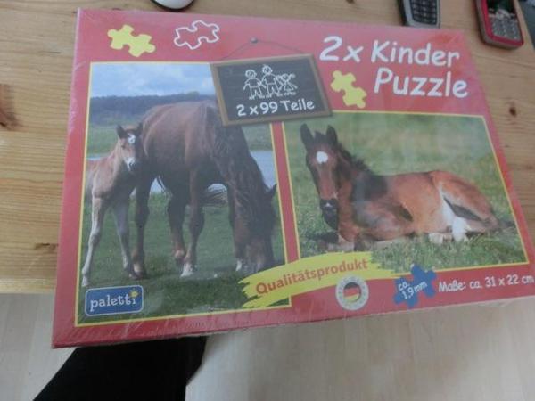 Kinder Pferde puzzle 2 Stk