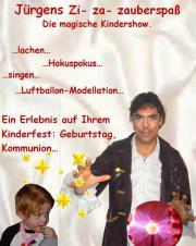 Kinderunterhaltung mit Kinderentertainer und Zauberer
