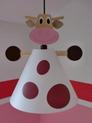 Kinderzimmerlampe, gefleckte Kuh,