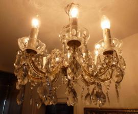 Lampen - Kristalllüster antik Lampe Lüster Leuchter