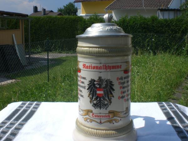 Krug - Biergrug mit Zinndeckel - original
