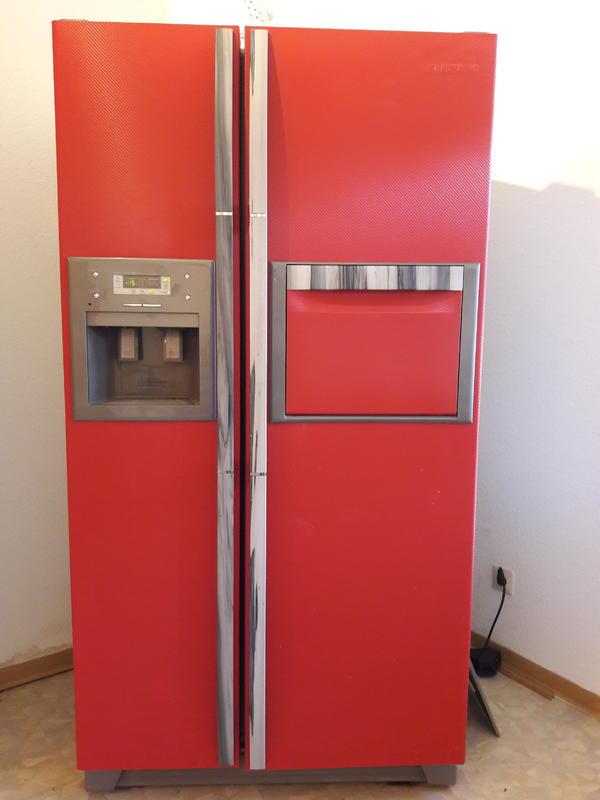 Kühlschrank American Style Rot Einzelstück in Bad Bergzabern - Kühl ...