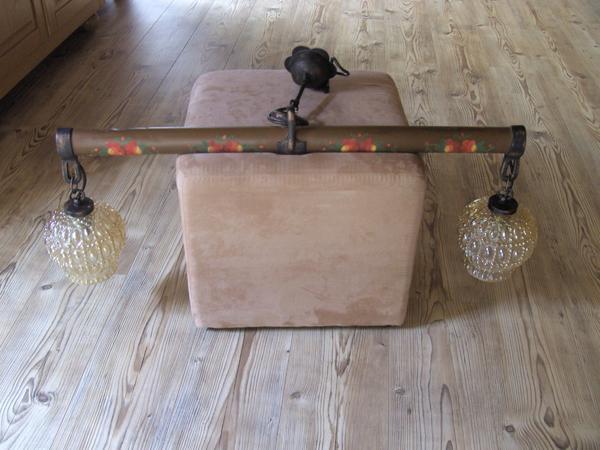 Lampe rustikal 1 zugscheit waagscheit ochsenjoch landhaus bauer in