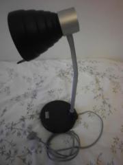 Lampe--Schreibtisch Lampe flexibel neuwertig d-blau-silber