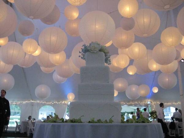 Lampion Weiss Hochzeit Papierlaternen Lampions Mit Led Erleuchtung