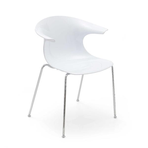 infiniti design designer stuhl loop san gestell verchromt. Black Bedroom Furniture Sets. Home Design Ideas