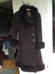 Mantel mit Kunstpelz orig 70er