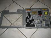 Mikroskop mit fach zoom für kinder kindermikroskop im koffer in